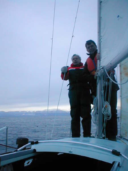 Me and John on the foredeck