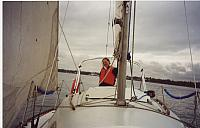 Debbie on the Helm