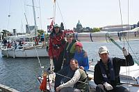 Swiftsure crew at inspection Dock Pascal Katies and Roger